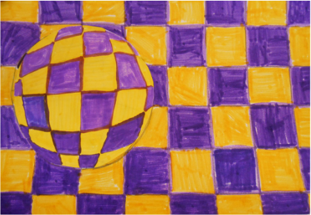 Complementary Color Op Art